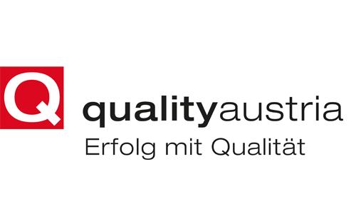 Logo der akkreditierten Zertifizierungsstelle Quality Austria